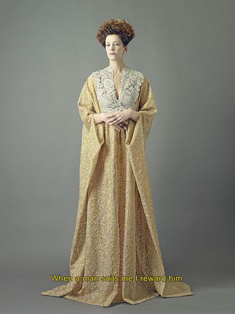 Céline Sallette as Cate Blanchett in Elizabeth