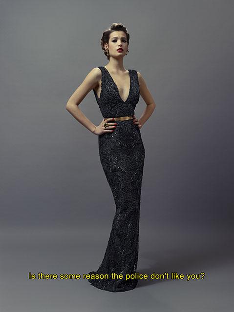 Alma Jodorowsky as Rita Hayworth in the Lady of Shaghaï